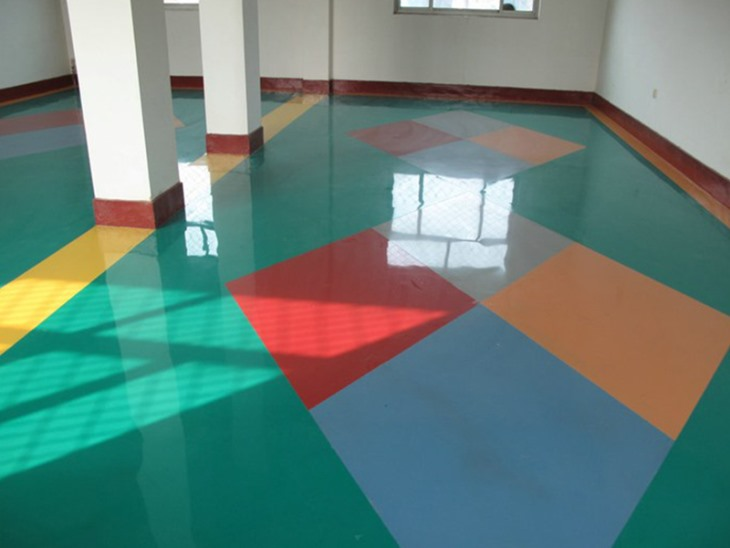 Colored floor paint